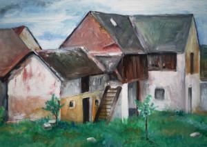 Pohled-na-domky-akvarel