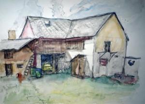 Staje a kulny_akvarel